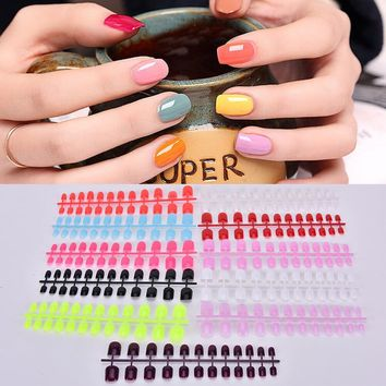 24 pcs/ set Fake Nails Faux Ongles Full Cover False Acrylic Nails Artificial Design Tips