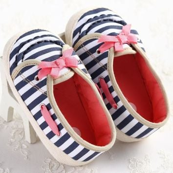 Fashion Sweet New Kids Newborn Baby Girl Bow Shoes Toddler Mary Jane First Walker Anti-sip Infant Shoes Bebe Kids Shoes Cotton