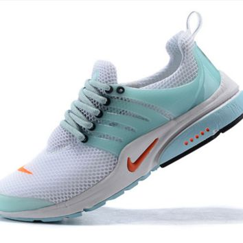 NIKE trend of running shoes casual shoes White and sky blue