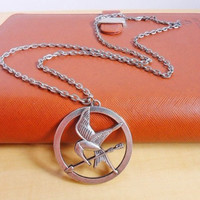 hunger games logo necklace chain necklace metal necklace women necklace men necklace made of silver hunger games logo  XL-2347