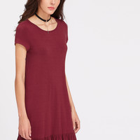 Ruffle Hem Tee Dress -SheIn(Sheinside)