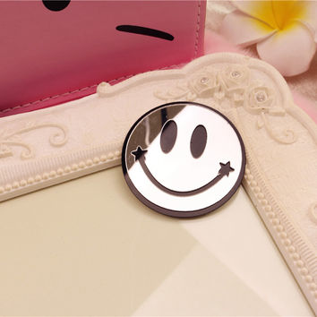 Cute Smile Face Accessory DIY Cellphone Decoration  Mobile Phone Stickers  For iPhone  5 5s 6 plus ipad Samsung Decor 2 pieces