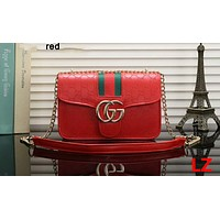 GUCCI 2018 new summer fashion chain Messenger bag F-OM-NBPF Red