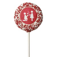 Valentine's Day Love Lesbian LGBT Pride Chocolate Dipped Oreo Pop