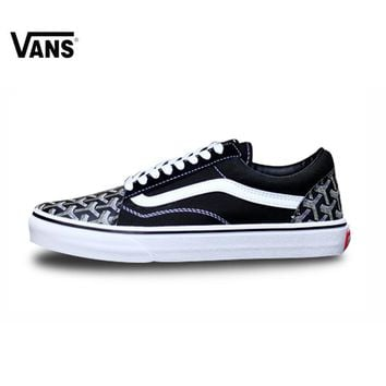 Vans FOG Old Skool VNOB65G1R1B  Classic Low-top Trainers Sports Skateboarding Shoes Lace-up Vans Shoes  for Women 35-39