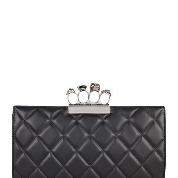Quilted Four Ring Clutch