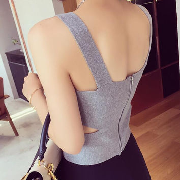 Fashion Women Bodycon Knitted Vest Top -272