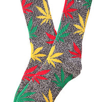 HUF Plantlife in Ratsa Grey Crew Socks [SOLD OUT]