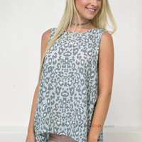 Mint Cheetah Top