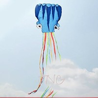 5M Octopus Foil Kite, Come with Handle & String, Beach Park Garden Playground Outdoor Fun