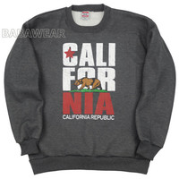California Crewneck Charcoal Sweatshirt Cali Bear Vintage