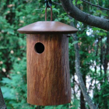 Hanging Birdhouse - Comes Ready-to-hang On A Brown Cord