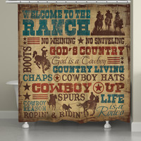 Welcome to the Ranch Shower Curtain