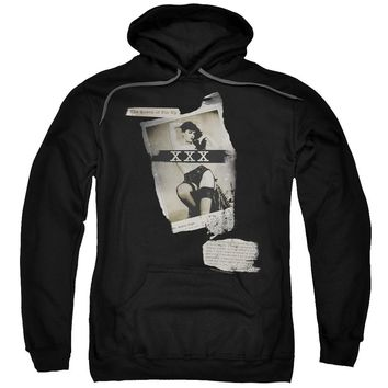 Bettie Page - Newspaper &Amp; Lace Adult Pull Over Hoodie