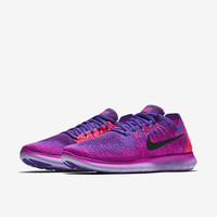The Nike Free RN Flyknit 2017 Women's Running Shoe.