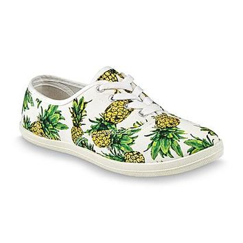 Wild Diva Women's Pineapple White/Yellow/Green Sneaker - Clothing, Shoes & Jewelry - Shoes - Women's Shoes - Women's Flats