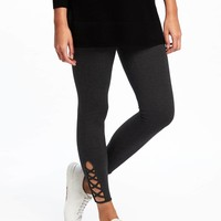 Jersey Cut-Out Ankle Leggings for Women | Old Navy