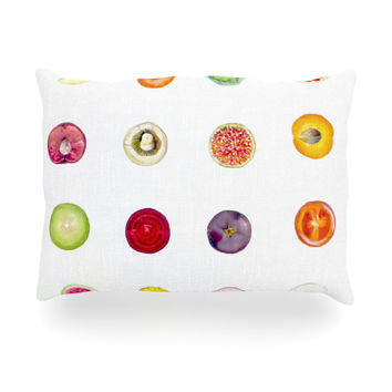 "Theresa Giolzetti ""Fruit"" Multicolor Food Oblong Pillow"