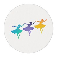 Three Dancers Edible Frosting Rounds