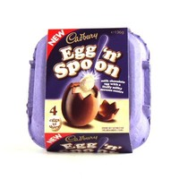 Cadbury Egg 'n' Spoon Vanilla Chocolate 4 eggs to share