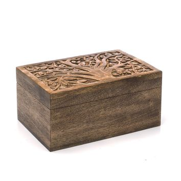 Aranyani Mango Wood Jewelry Box - Handmade