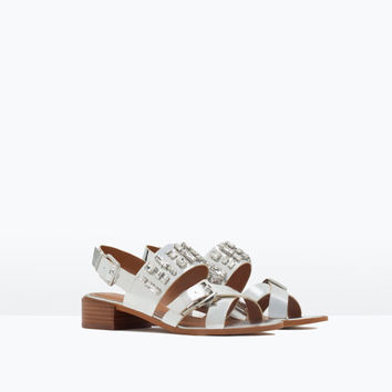 Shiny jewelled sandals