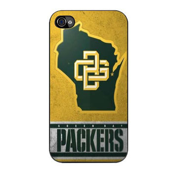green bay packers logo iPhone 4 4s 5 5s 5c 6 6s plus cases