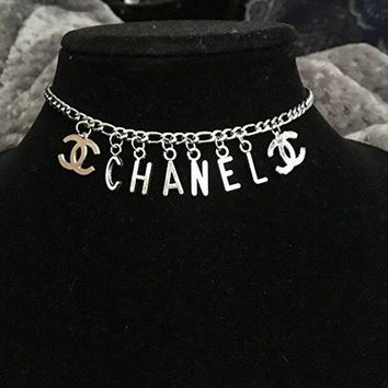 New// Letter Charm Necklace// Free Gift