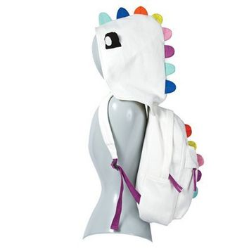 Plush Dinosaur Backpack with Removable Hood  | Claire's