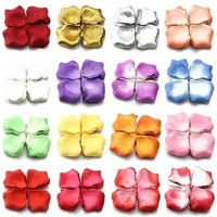 1000pcs Rose Petals Silk FAKE Flowers Petals Wedding Scatter Confetti Table Party [7982890887]