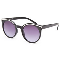 Full Tilt Cateye Sunglasses Black One Size For Women 25388810001