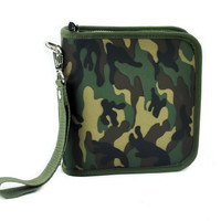 Camo Camouflage CD / DVD / Disc Holder Wallet Case Holds 24 Discs