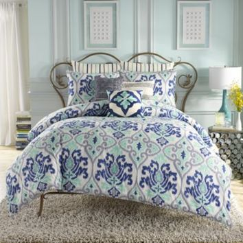 Anthology™ Jolie Reversible Comforter Set in Blue