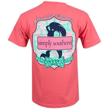 Simply Southern Mermaid T-Shirt - Pink