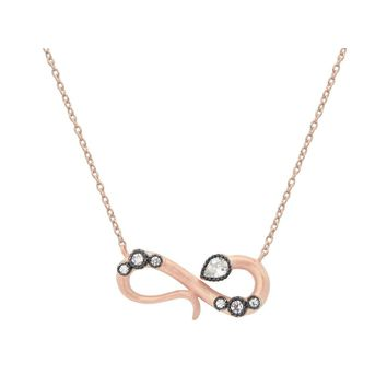 Rose Infinity Snake Necklace
