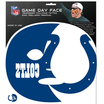 Indianapolis Colts Game Face Temporary Tattoo FGFD050