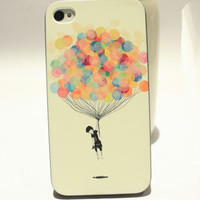 Cute Colourful Ballon Hard Cover Case For Iphone 4/4s