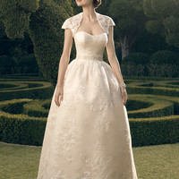 Casablanca Bridal 2182 Strapless Lace Vintage Ball Gown Wedding Dress