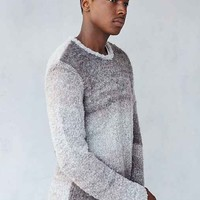 Vanishing Elephant Boucle Spacedye Crew-Neck Sweater- Taupe