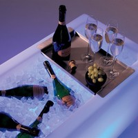 Polyethylene Bar counter / Ice container ICECUBE by Extremis | design Danny Venlet