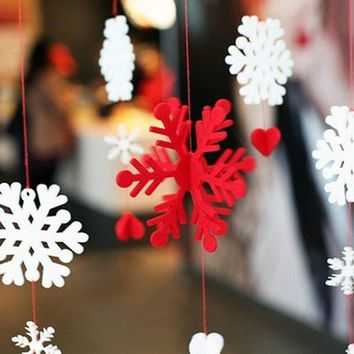 Christmas School Decoration Snowflake Bunting Garland Party Supplies