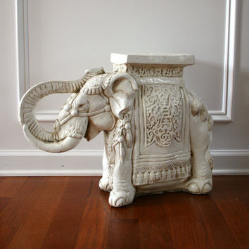 White Elephant Table/Plant Stand. Global interior Design. Bohemian.