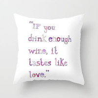 Wine Throw Pillow by S. L. Hurd