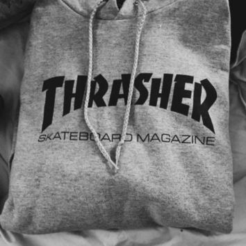 """Thrasher"" Classic Fashion Women Men Casual Flame Print Hoodies Sweater Top Sweatshirt"
