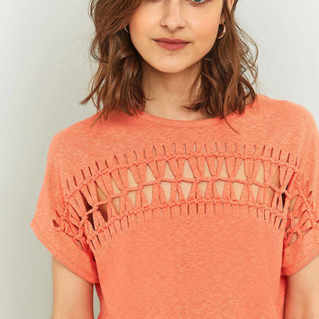 Light Before Dark Macrame Cropped Top | Urban Outfitters