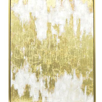Three Hands Contemporary Gold Embellished Oil Painting Wall Art - Wall Art at Hayneedle