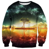 Womens Mens 3D Print Realistic Space Galaxy Animals Hoodie Sweatshirt Top Jumper isolated island