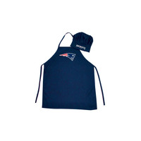 New England Patriots NFL Barbeque Apron and Chef's Hat