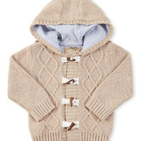 Cream Cable-Knit Hooded Cardigan - Infant