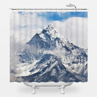Ama Dablam Peak Shower Curtain